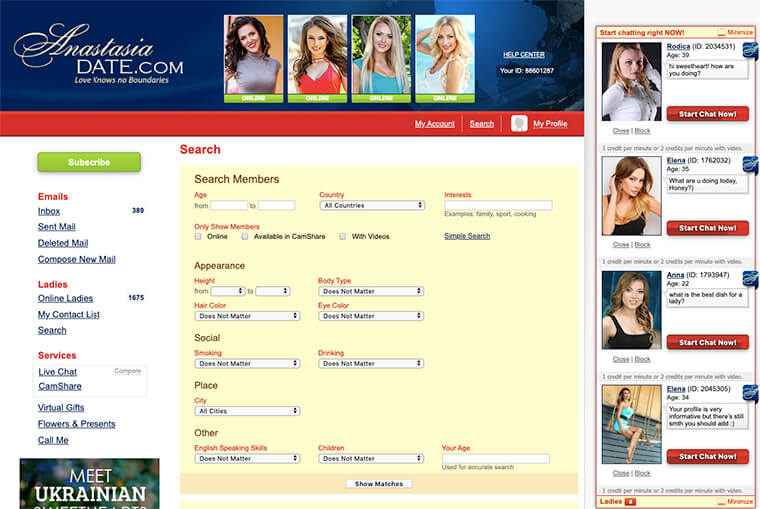 anastasiadate search bar